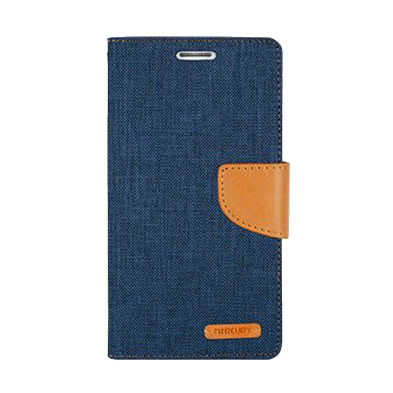 Mercury Goospery Canvas Diary Navy Casing for Galaxy A5