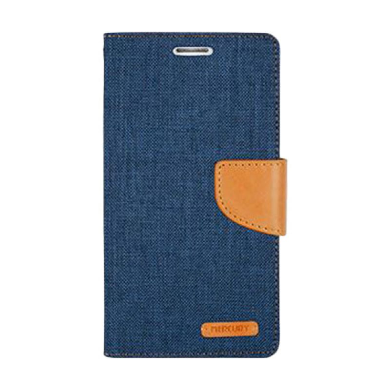 Mercury Goospery Canvas Diary Navy Casing for Sony Xperia C4