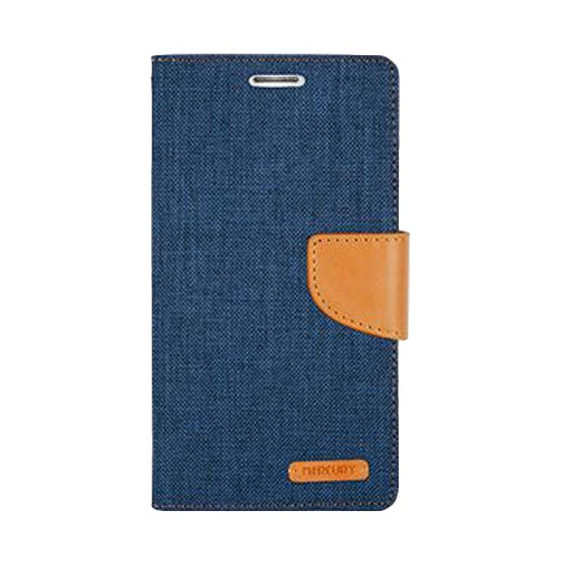 Mercury Goospery Canvas Diary Navy Casing for Xiaomi Note