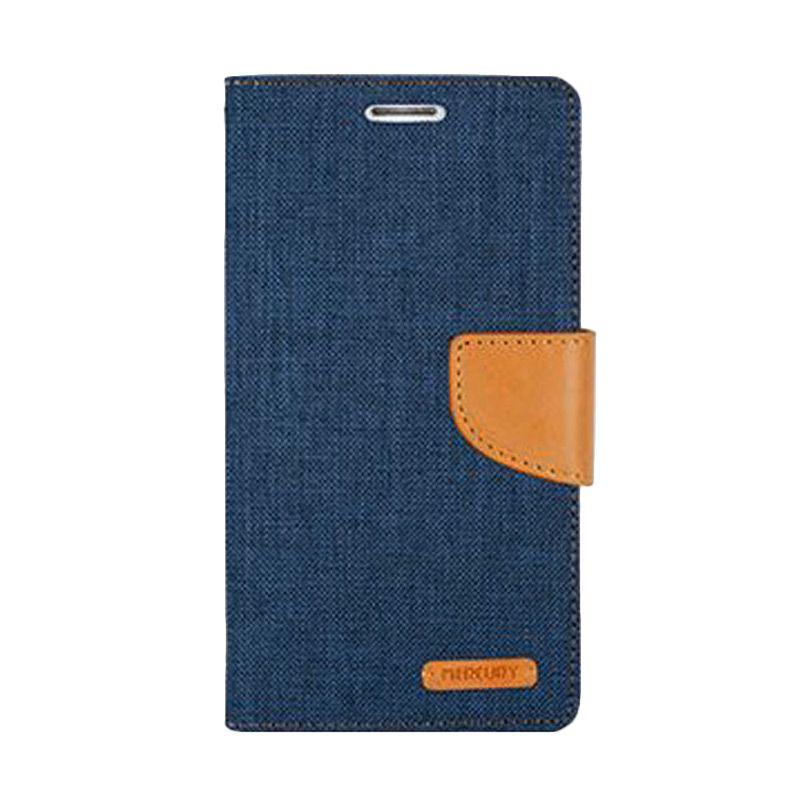 Mercury Goospery Canvas Diary Navy Casing for Xiaomi Redmi 2