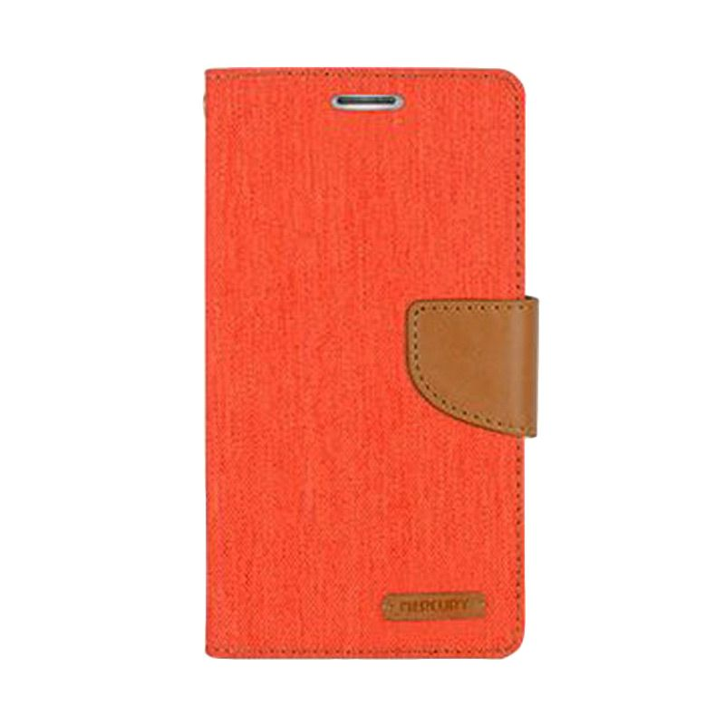 Mercury Goospery Canvas Diary Orange Casing for Galaxy A3
