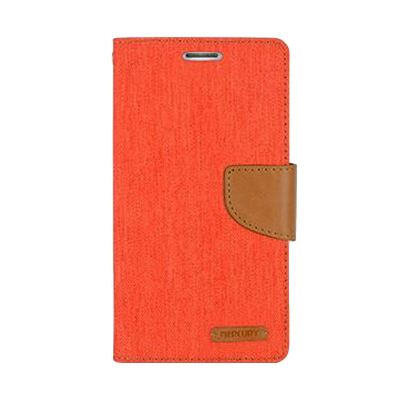Mercury Goospery Canvas Diary Orange Casing for Galaxy A5