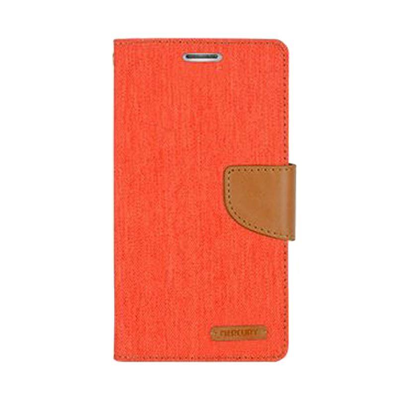 Mercury Goospery Canvas Diary Orange Casing for Galaxy A7