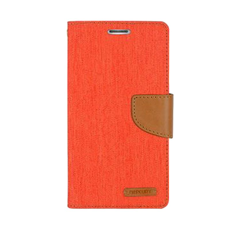 Mercury Goospery Canvas Diary Orange Casing for Galaxy Ace NXT