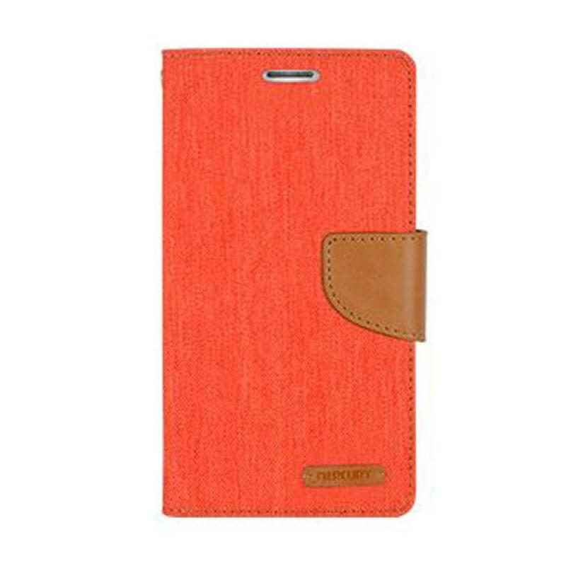 Mercury Goospery Canvas Diary Orange Casing for Galaxy Note 4 Edge