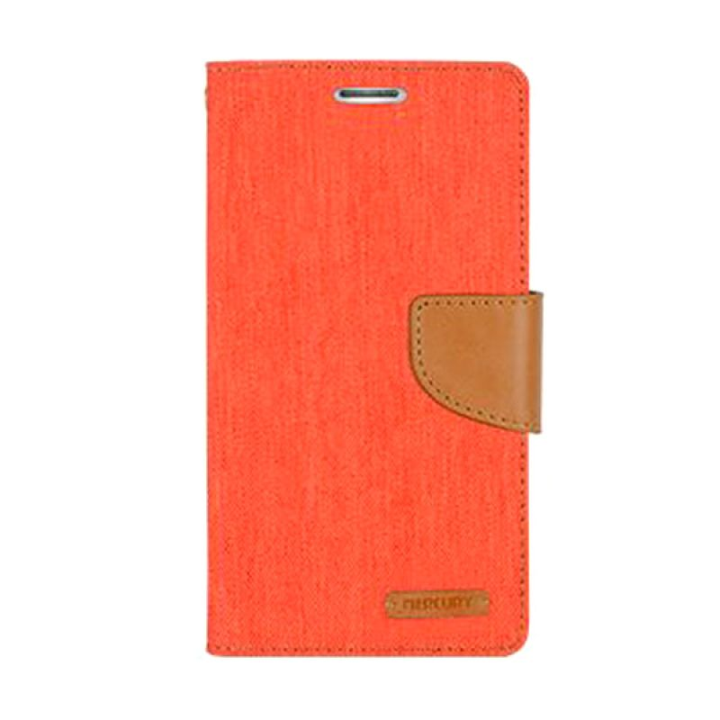 Mercury Goospery Canvas Diary Orange Casing for LG G3