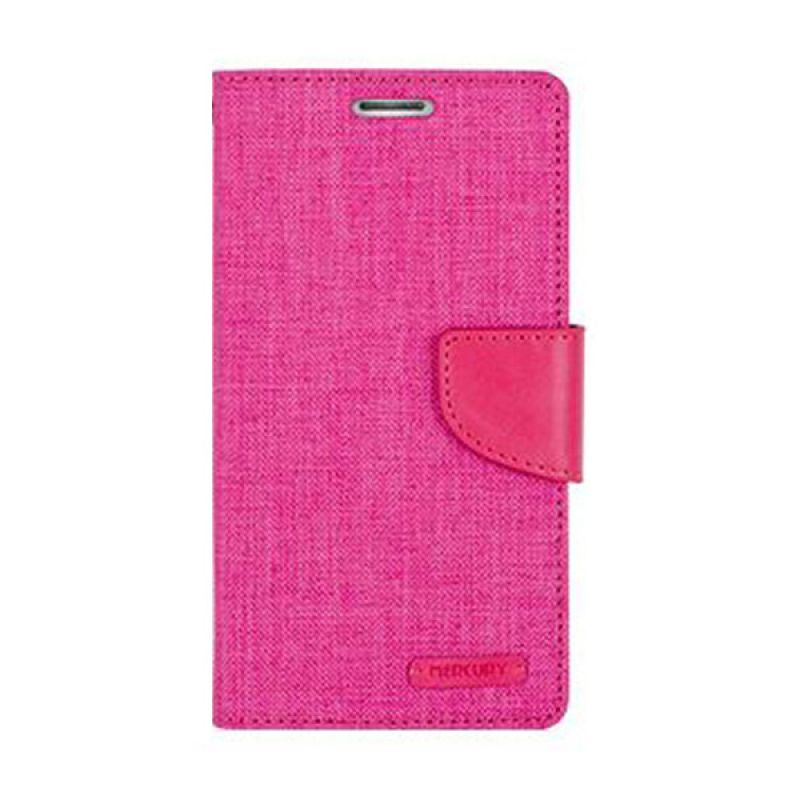 Mercury Goospery Canvas Diary Pink Casing for Asus Zenfone 2