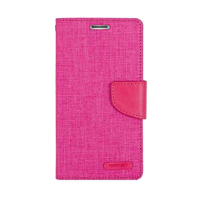 Mercury Goospery Canvas Diary Pink Casing for Galaxy Ace NXT