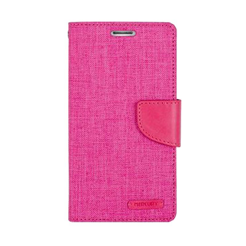 Mercury Goospery Canvas Diary Pink Casing for LG G4