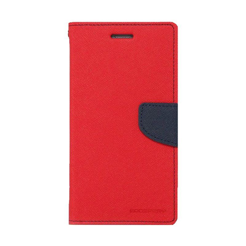 Mercury Goospery Fancy Diary Red Navy Casing for LG G3