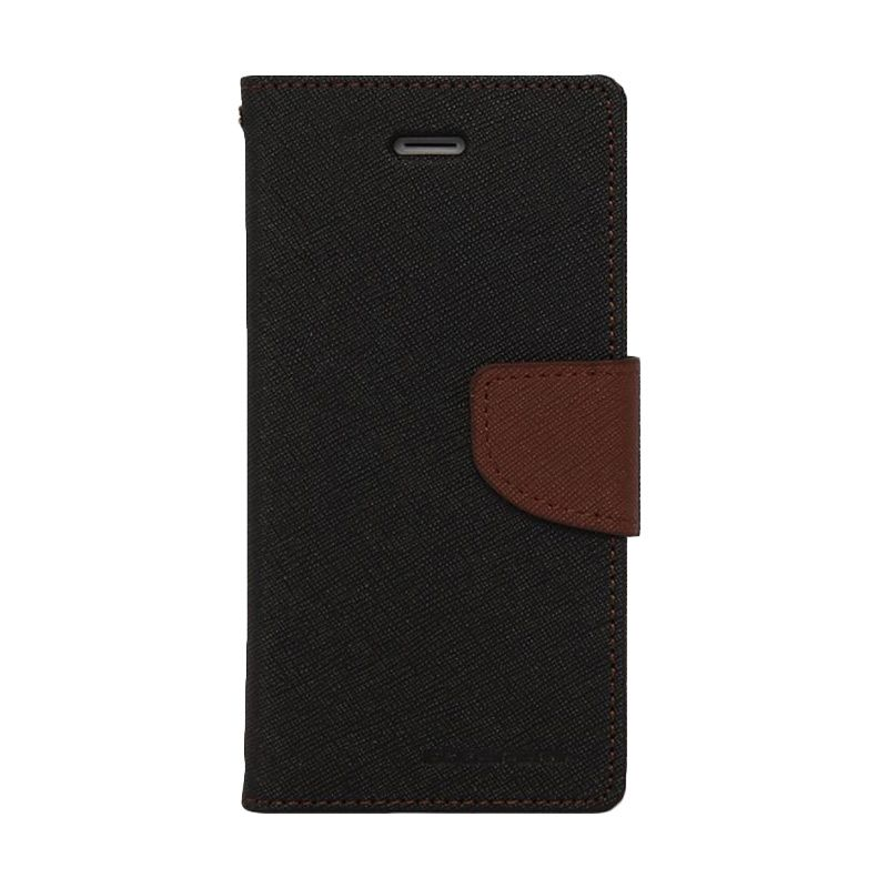 Mercury Goospery Fancy Diary Black Brown Casing for Galaxy Ace 4 or Ace NXT