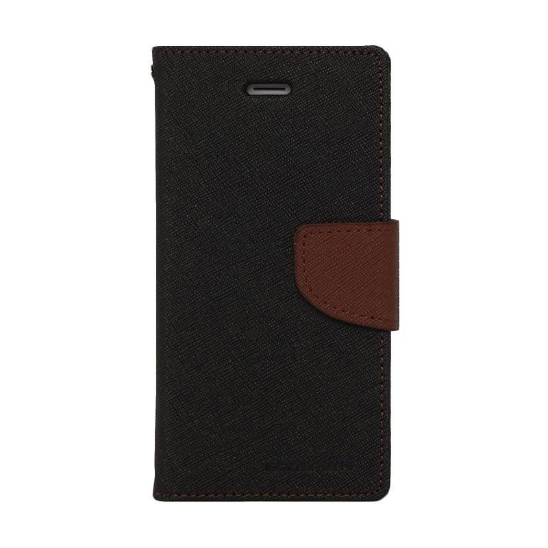 Mercury Goospery Fancy Diary Black Brown Casing for Galaxy S4 mini