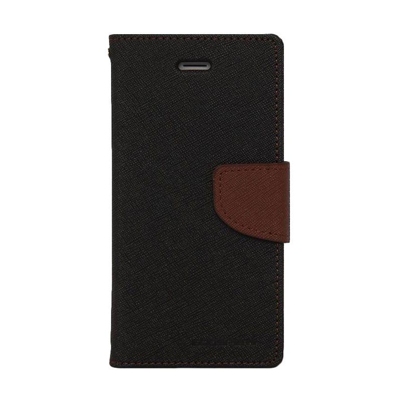 Mercury Goospery Fancy Diary Black Brown Casing for iPhone 6