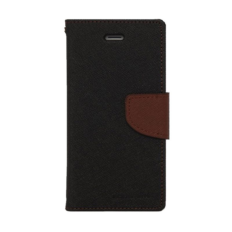 Mercury Goospery Fancy Diary Black Brown Casing for LG G3