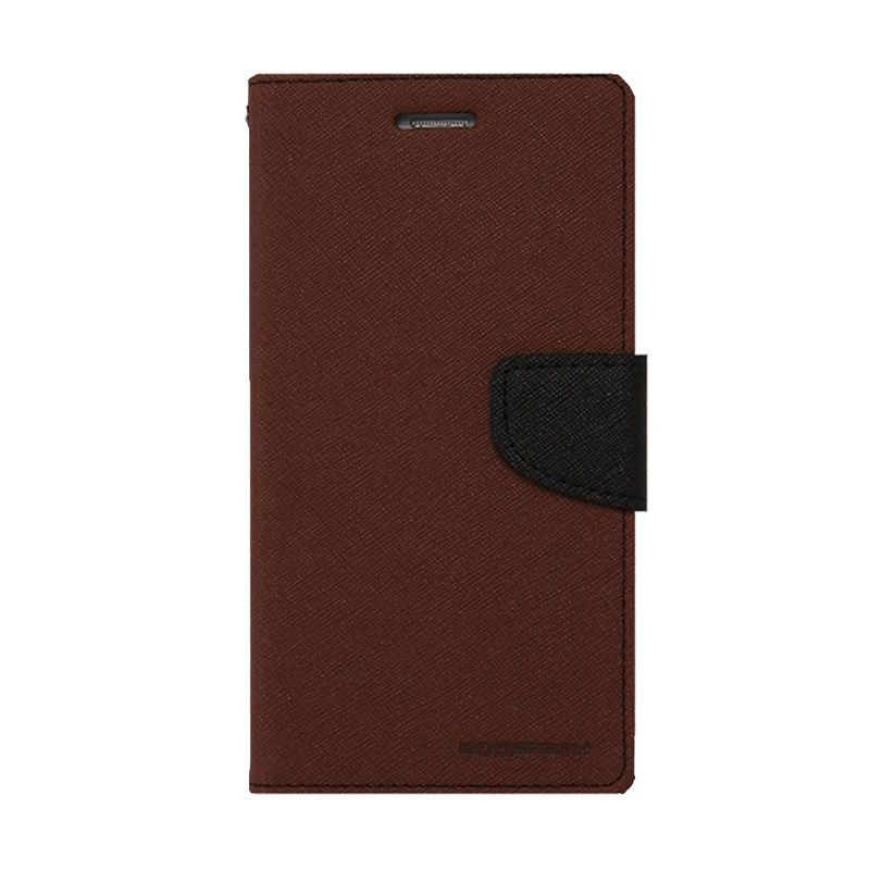 Mercury Goospery Fancy Diary Brown Black Casing for LG G3