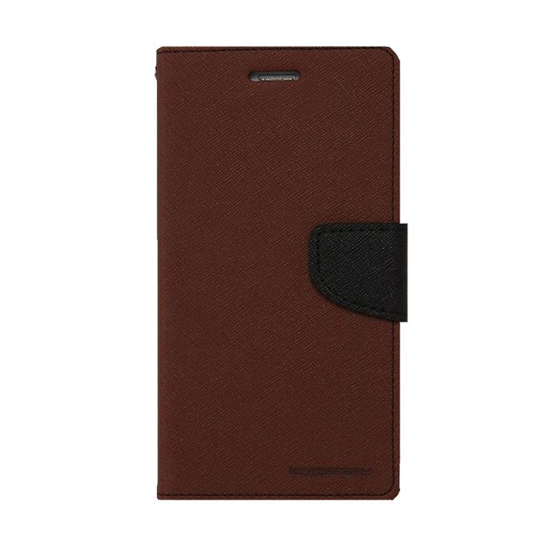 Mercury Goospery Fancy Diary Brown Black Casing for LG Pro 2