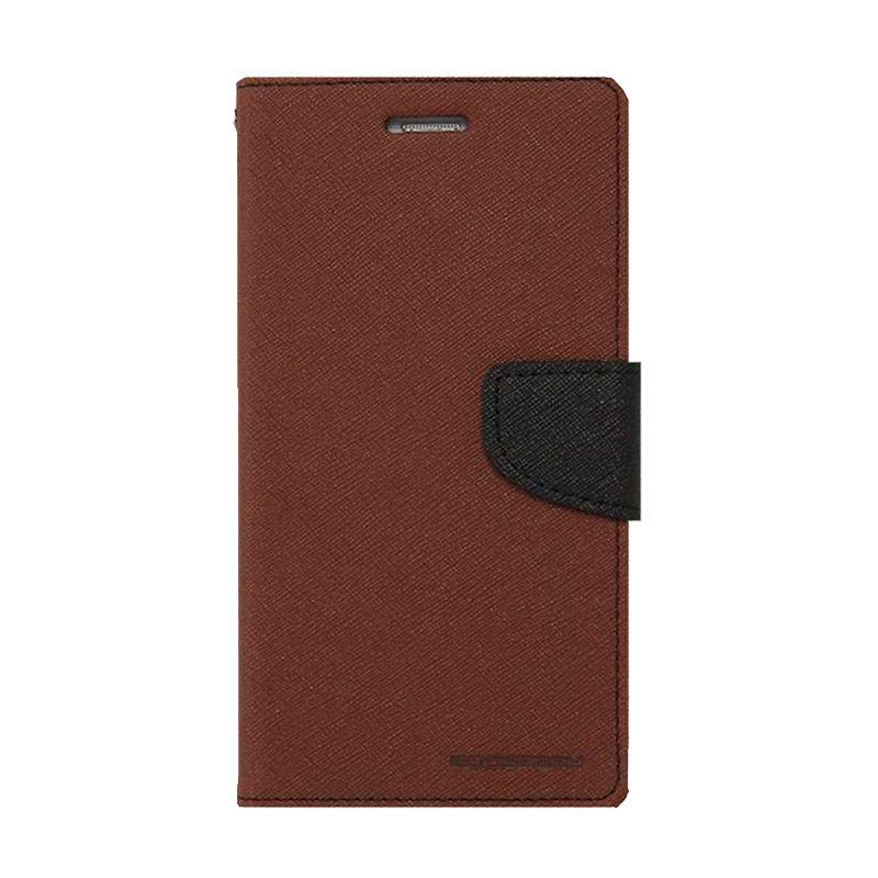 Mercury Goospery Fancy Diary Brown Black Casing for Samsung Galaxy Grand 2