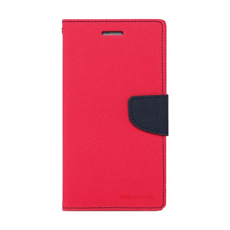 Mercury Goospery Fancy Diary Hotpink Navy Casing for Galaxy Ace 4 or NXT