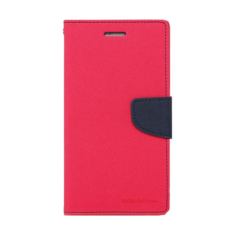 Mercury Goospery Fancy Diary Hot Pink Navy Casing for Galaxy Grand1/Grand Neo