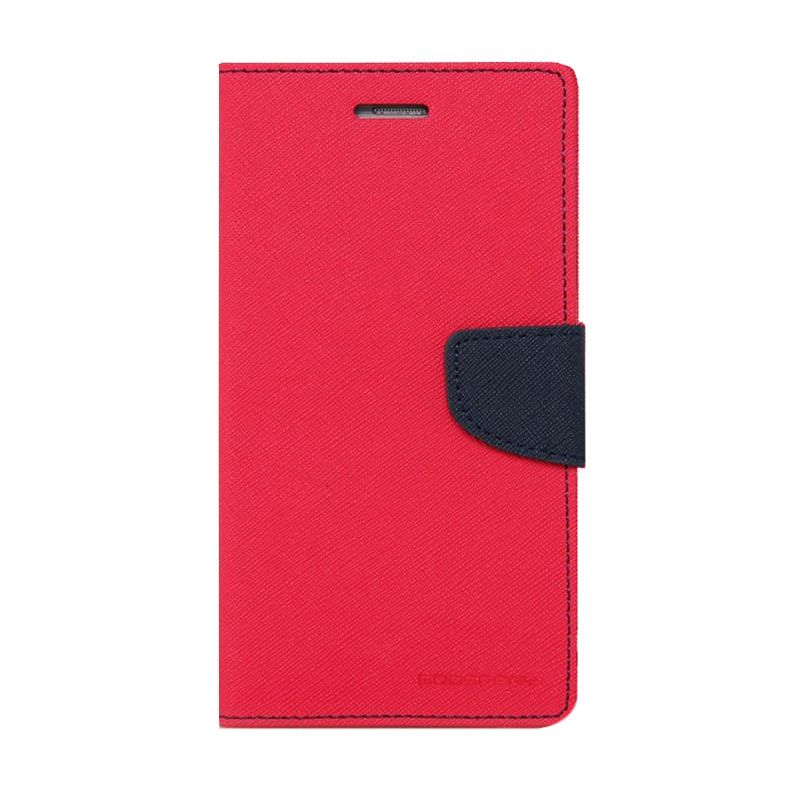 Mercury Goospery Fancy Diary Hotpink Navy Casing for Galaxy S4 mini