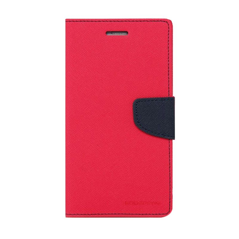 Mercury Goospery Fancy Diary Hot Pink Navy Casing for LG Pro Lite