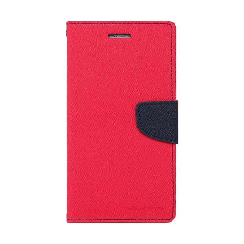 Mercury Goospery Fancy Diary Hotpink Navy Casing for Xiaomi Mi4