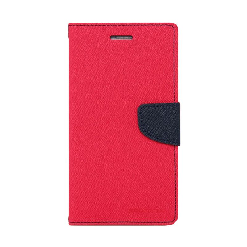 Mercury Goospery Fancy Diary Hot Pink Navy Casing for Xiaomi Mi4i