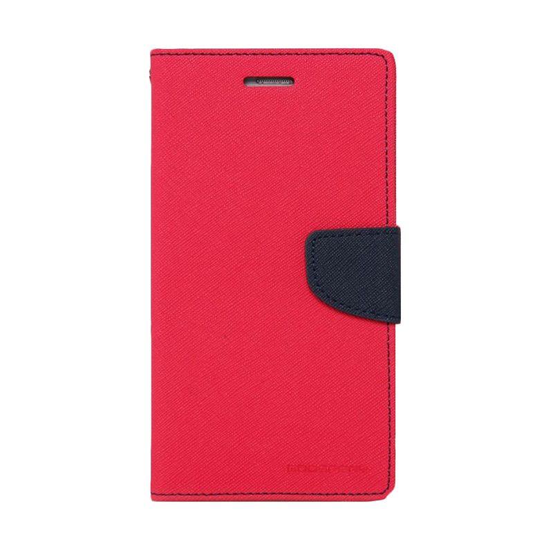 Mercury Goospery Fancy Diary Hot Pink Navy Casing for Xiaomi Redmi 2
