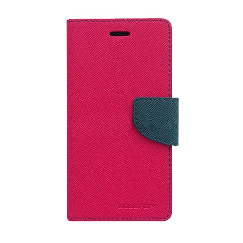 Mercury Goospery Fancy Diary Hotpink Navy Casing for Xperia Z
