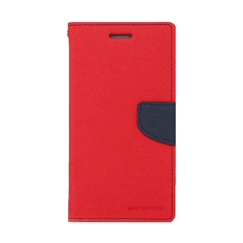 Mercury Goospery Fancy Diary Red Navy Casing for Xiaomi Mi4