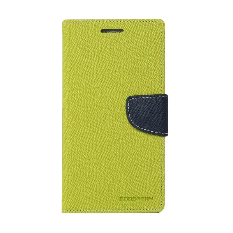Mercury Goospery Fancy Diary Lime Navy Casing for Galaxy Ace 4 or Ace NXT