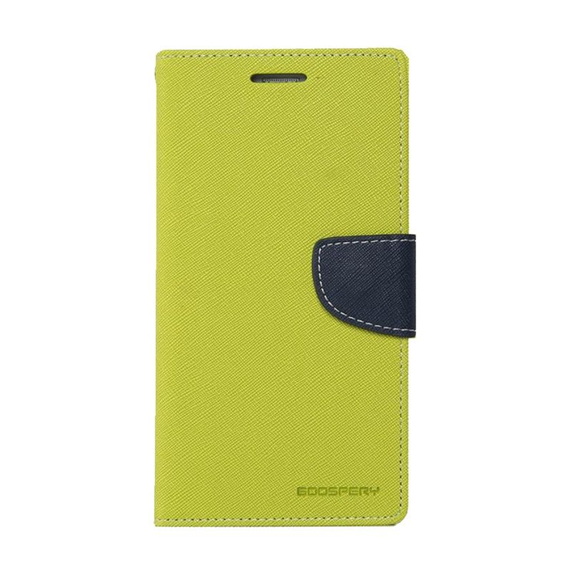 Mercury Goospery Fancy Diary Lime Navy Casing for Galaxy S4 mini