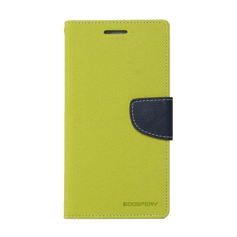 Mercury Goospery Fancy Diary Lime Navy Casing for Galaxy S5