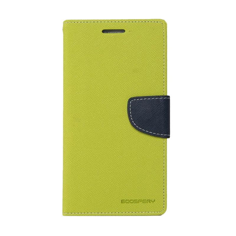 Mercury Goospery Fancy Diary Lime Navy Casing for iPhone 6