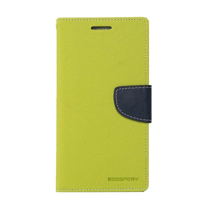 Mercury Goospery Fancy Diary Lime Navy Casing for Xiaomi Mi4