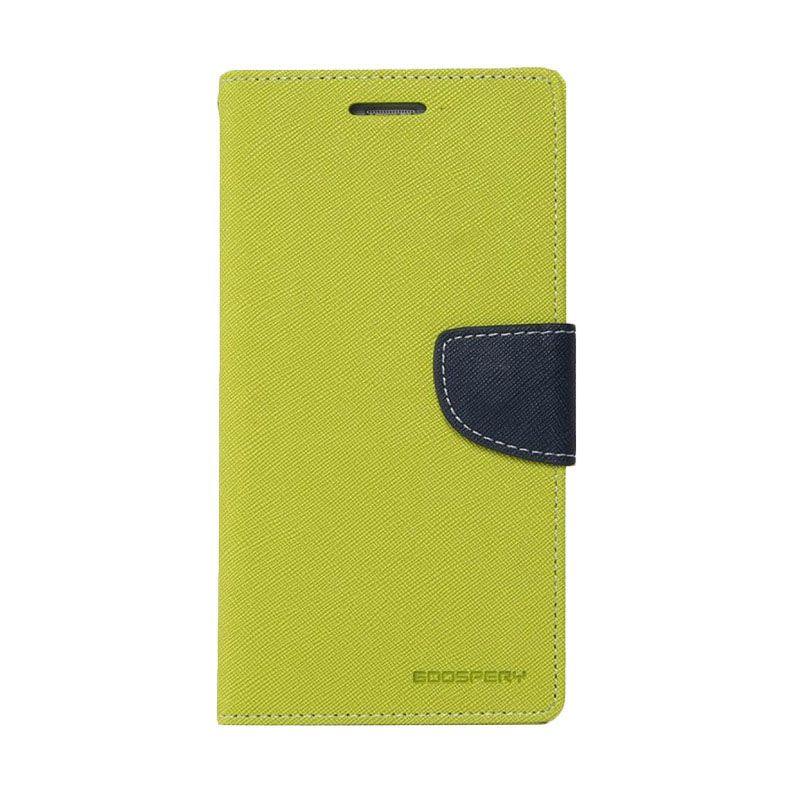 Mercury Goospery Fancy Diary Lime Navy Casing for Xiaomi Redmi 2