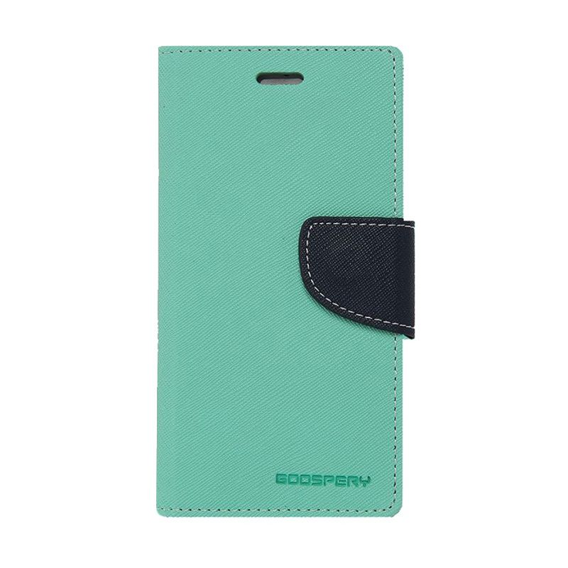 Mercury Goospery Fancy Diary Mint Navy Casing for Galaxy Alpha