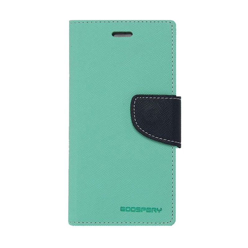 Mercury Goospery Fancy Diary Mint Navy Casing for Galaxy Core 2