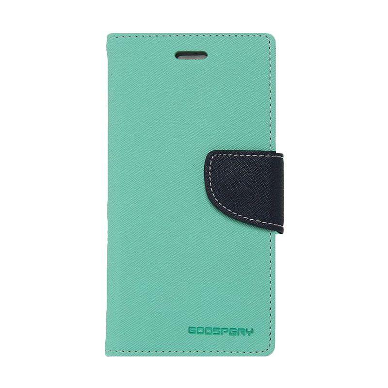 Mercury Goospery Fancy Diary Mint Navy Casing for HTC New One
