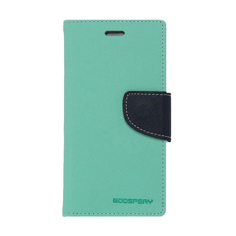 Mercury Goospery Fancy Diary Mint Navy Casing for iPhone 6 or 5S
