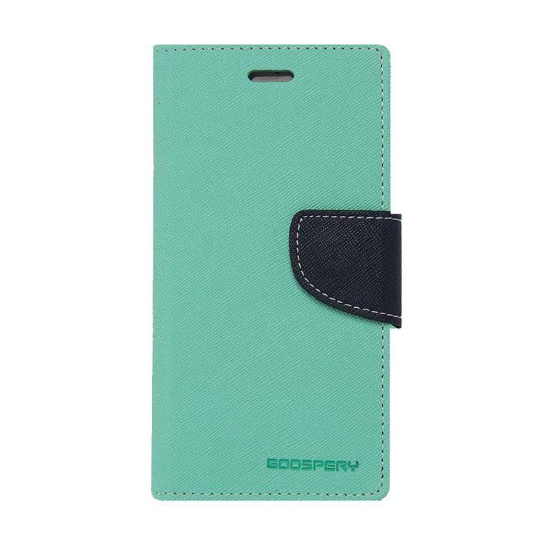 Mercury Goospery Fancy Diary Navy Lime Casing for Xiaomi Note 2