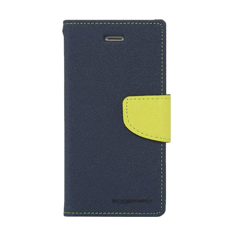 Mercury Goospery Fancy Diary Navy Lime Casing for Galaxy S4