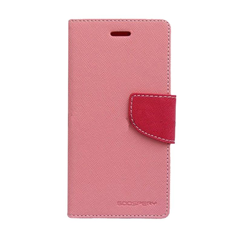 Mercury Goospery Fancy Diary Pink Hot Pink Casing for Galaxy A5