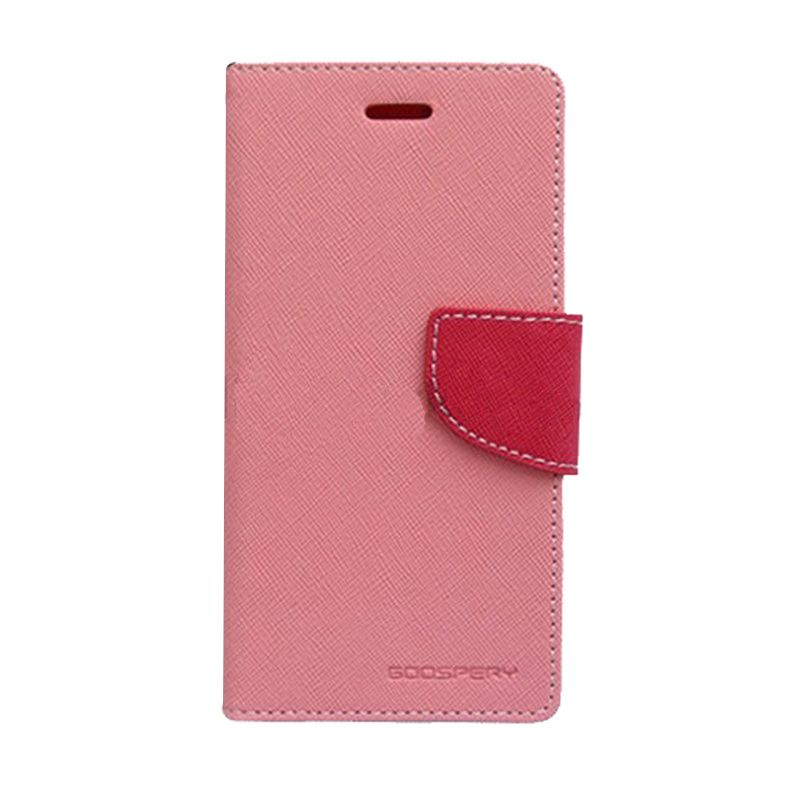 Mercury Goospery Fancy Diary Pink Hot Pink Casing for Galaxy Alpha