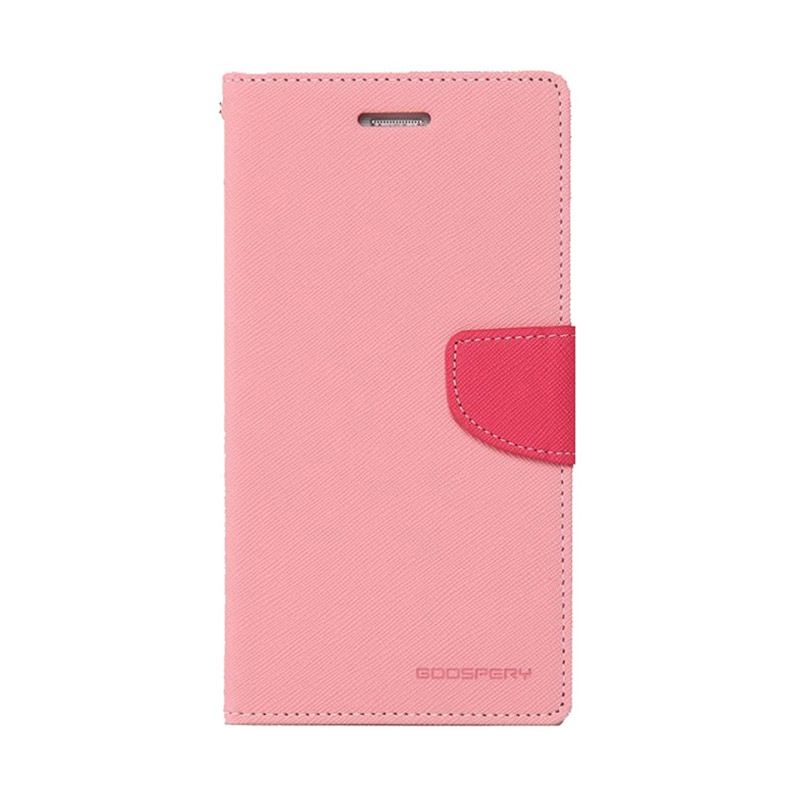 Mercury Goospery Fancy Diary Pink Hot Pink Casing for Galaxy Grand1/Grand Neo