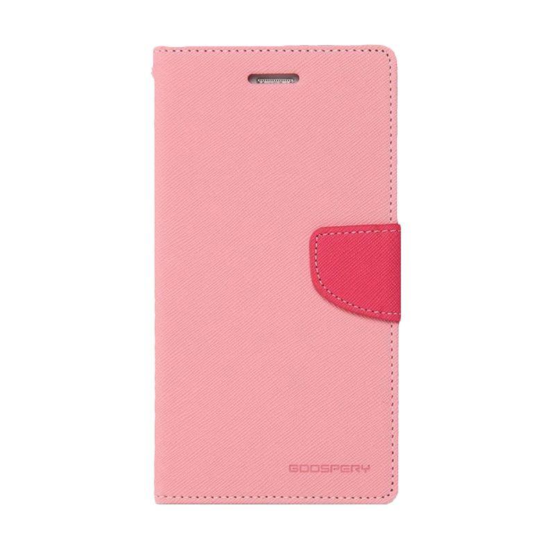 Mercury Goospery Fancy Diary Pink Hotpink Casing for Galaxy S4