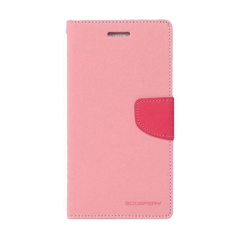 Mercury Goospery Fancy Diary Pink Hotpink Casing for Galaxy S5