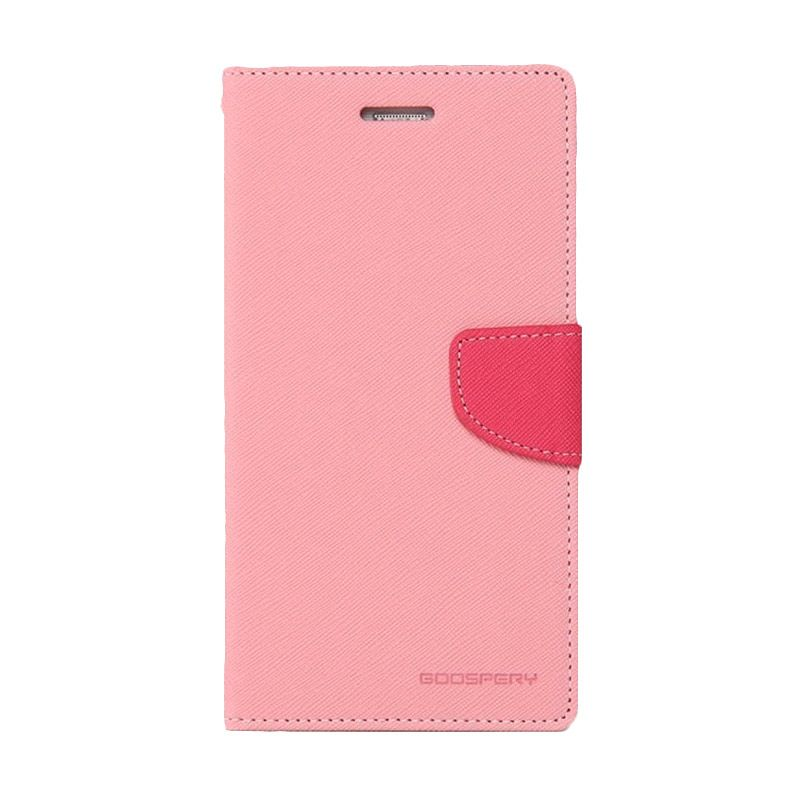 Mercury Goospery Fancy Diary Pink Hot Pink Casing for HTC New One