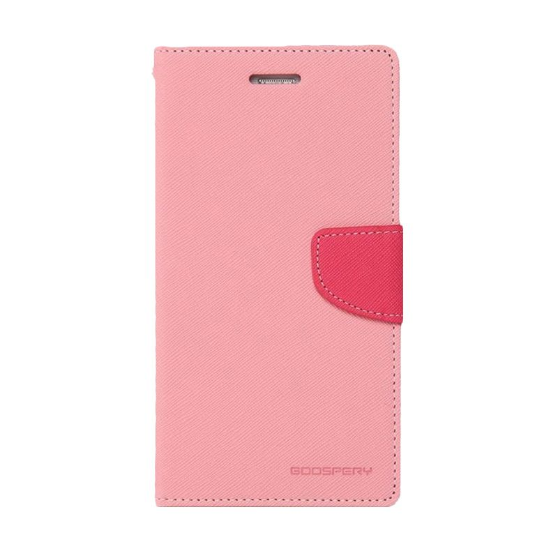 Mercury Goospery Fancy Diary Pink Hotpink Casing for iPhone 4 or 4S