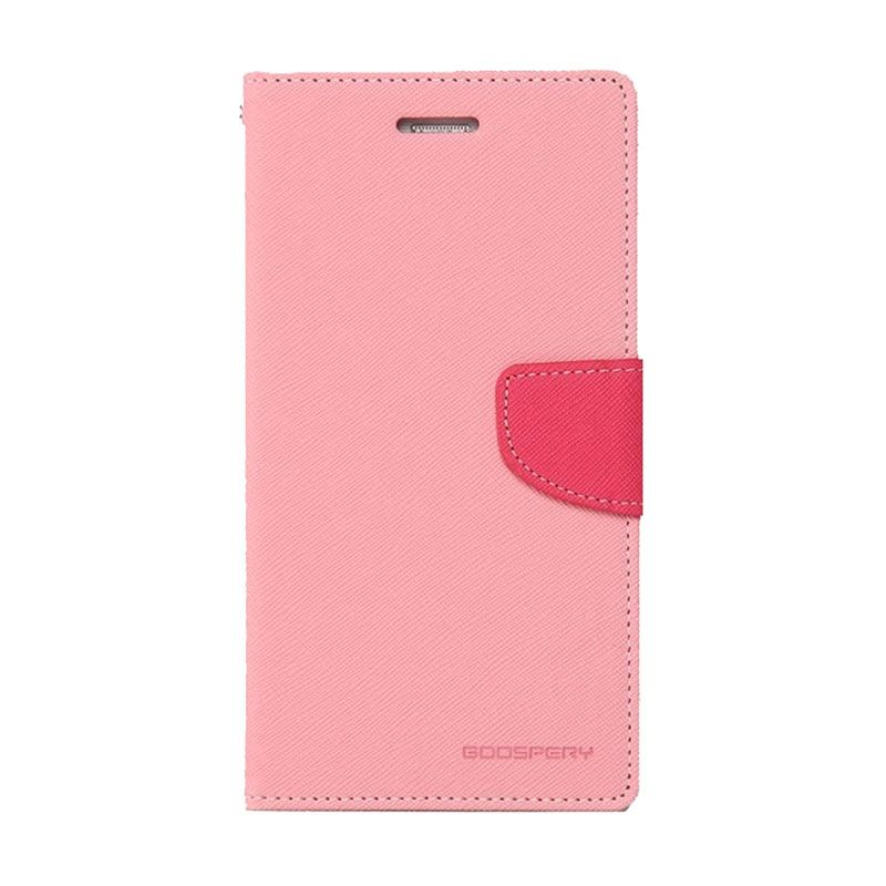 Mercury Goospery Fancy Diary Pink Hot Pink Casing for Xiaomi Mi4